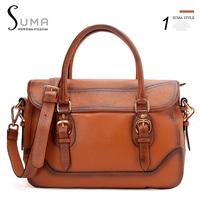 2013 women's handbag fashion shoulder bag first layer of cowhide vintage ol work bag