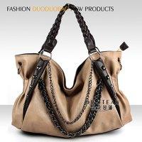 women's handbag handmade woven bag chain bag rivet bag black