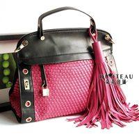 woven bag handbag bag shoulder messenger bag tassel bag