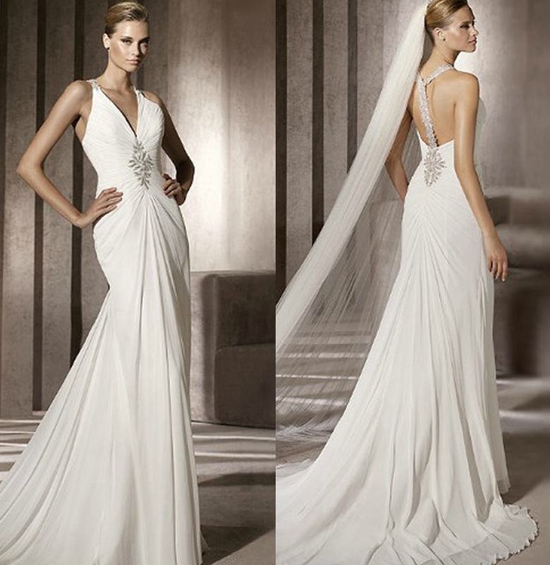 2013anneblanche wedding dressing wedding gown bridal gown beach gown(China (Mainland))