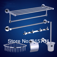 Free Shipping! Bath Hardware Sets, Brass Bathroom Accessories set,6 pcs/set