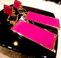 Free shipping Female fashion vintage geometry is big stud earring  Min order$10