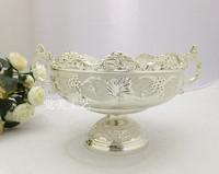 Fashion stainless steel metal fruit plate ktv desktop bowl ice-pail
