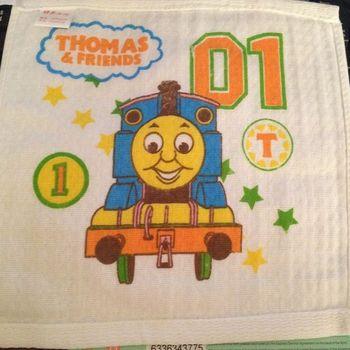 Child cartoon handkerchief thomas small towel 100% De-Forest cotton double layer gauze towel child baby scarf children towel