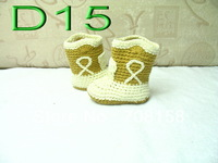 free shipping, Crochet baby boots infant winter snow boots first walker shoes 0-18M cotton yarn custom 50pairs/lot