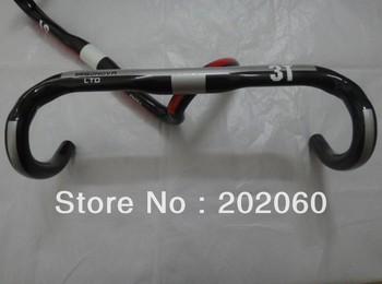 Top-Selling!!!2013 NEW 3T Ergonova LTD Handlebar Carbon 400mm/420mm/440mm Road Bike carbon fiber drop bar, Free Shipping
