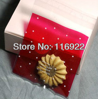 "Birthday Treats Cellophane Mini Bags, Self Seal Packaging, ""Red Small Polka Dot Print""10x13.2cm 300pcs/lot"
