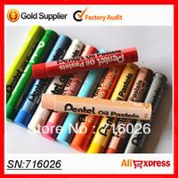 Free shipping!  Orginal Pentel oil pastel 50 colors soft pastel sticks regular size safe non-toxic washable crayon for children