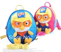 free shipping Authentic Korean imports pororo little penguin preschool children shoulder bag satchel schoolbag baby anti-lost