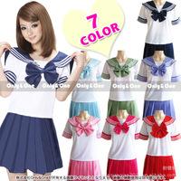 FreeShipping  Sexy Japan Student Costume Uniform  sets dress Cosplay Costume Anime Girl Lolita Cartoon Character Costumes CS013