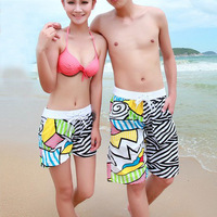 2014 New Shorts Men Beach pants for Couple Zebra Casual Couple Swimming Beach shorts AB style Free shipping
