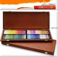 Free shipping! 2013 Original South Korean ally MUNGYO MOP- 72 color/lot oil pastel refined professional grade with wooden box