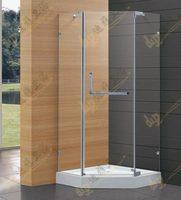 Diamond open door shower cabin shower room simple bathroom glass partition  Shipping fee adjustable