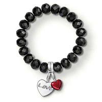 wholesale new fasion style TS bracelet with 2 charmes  Crystal bracelet tsb0080