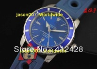 New Products Men's Sportscar SuperOcean Heritage  Blue Dial Mens Automatic mechanical Watch Men's Sport WristWatches Rubber Band