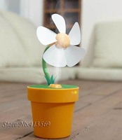 Free shipping mini USB water mist fan flowerpot  fan humidifier