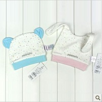 Minimoto multicolour dot long bear 100% full cotton baby hat ya03321