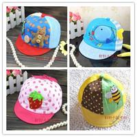 Summer child summer hat male plaid baseball cap baby cap sunbonnet mesh cap