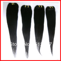 "DHL Free Shipping 3pcs/lot Straight Remy Brazilian Hair Weave 20"" length Human Hair Extension color 1b"