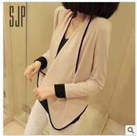 2013 spring and autumn new arrival women's fashion all-match long-sleeve pad shoulder width short design short jacket color