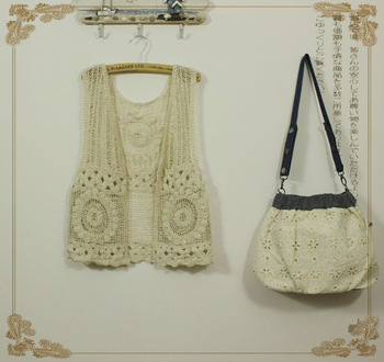 2013 spring and summer sweet all-match fashion pure cotton vest cutout crochet vest