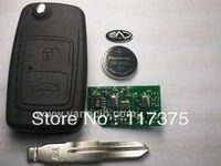 Chery cowin 3 , E5  car 2 button flip remote key 433mhz