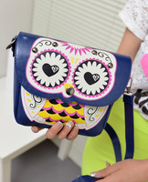 Free shipping Free shipping 2013 spring and summer cartoon owl print mini messenger bag female bags new arrival small bag