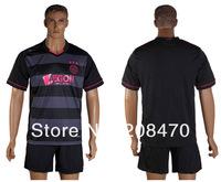 New Arrival 13-14 Ajax Amsterdam away black soccer uniforms Desinger football kits thailand quality sport jerseys Free Shipping