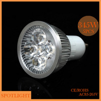 NEW(5pieces/lot) GU10 4W/ 5W AC85-265V can be customized E14 E27 LED bulb light LED Spotlights free shipping