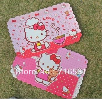 Cute KT cartoon waterproof placemat  Table mats for Child  10pcs/lot