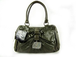 Bag lady fashion all-match shoulder bag japanned leather snakeskin women's bag(China (Mainland))