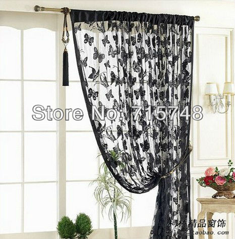 E-Home Free Shipping,Whole Sale,Fringe Curtain,Size:100*200cm,Butterfly Design, Gift For Christmas Holiday-WHB-B32(China (Mainland))