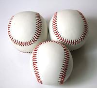 Standard 10 floptical baseball white handmade line genuine leather soft ball