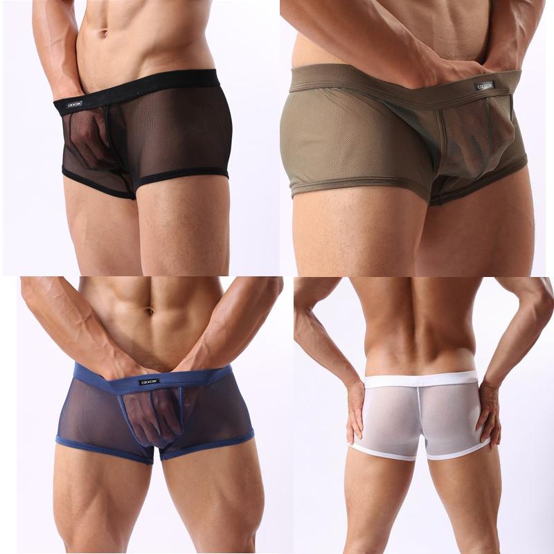 Y Boxer Shorts Para Hombre Ropa Interior Transparente Hombres De
