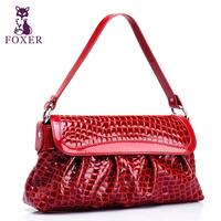 Wolsey 2013 spring and summer women's cowhide handbag crocodile pattern shoulder bag women's japanned leather messenger bag
