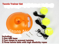 Funny Portable Rebound Tennis Trainer Set/Practice Partner/Training Aids/Equipment,Rebounder for beginner(w/ base,balls&clasps)