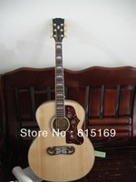 2013 New Arrival Spruce Burlywood Tiger stripes SJ200 6 Strings Acoustic Guitar Free Shipping