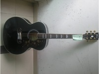 2013 Custom Shop New Arrival Spruce Black SJ200 6 Strings Acoustic Guitar Free Shipping
