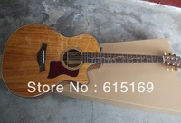 2013 New Arrival Spruce Solid Burlywood Taylor 6 Strings Electric Acoustic Guitar With EQ Pickups Free Shipping