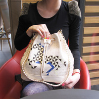2013 summer fresh bag vintage bucket bag one shoulder backpack women's handbag