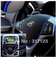 Free shipping 3M DIY Car Interior Decoration MOULDING Trim Decorative Strip Blue color Line