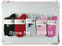 warm socks Hot sale fashion socks deer design free shipping women's cashmere socks christmas gift   20prs  lot assorted  colours