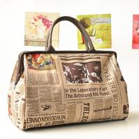 Handbags Fashion travel bag travel bag handbag briefcase fashion vintage bag women's handbag multicolor
