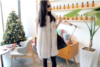 Luxury Newest Genuine Whole-piece Fox Fur Vest Women Waistcoat Female Good quality Gilet  Free Shipping