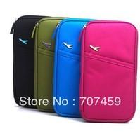 Free shipping !100pcs/lot  NEW version multifunction nylon waterproof card bag travel bag travelus folder passport holder
