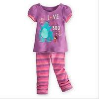 2013 Children's Clothing  girls Clothing Sets baby kids girls suits clothes( purple t shirt+pants)2pcs, 5sets/lot