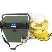 Fishing box fishing box olive fish tank fishing tackle fishing box lure box taiwan fishing box ultra-light