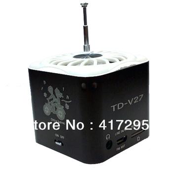 Wholesale 50pcs/lot TD-V27 Multimedia Speaker wholesale mini portable speaker with discounted price & DHL free shipping !