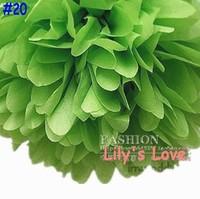 "50pcs 10cm/4"" Pom Poms Ball-Tissue Paper Pom Poms Flower Weddings, Woodland, Modern Vintage, Decorations #20"