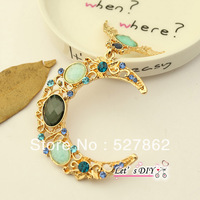 factory direct sell,3 pcs/lot,crystal blue moon angel,phone case DIY material decoration accessories,Free Shipping
